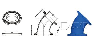 Loosing-Flanged-45-Deg-Bend